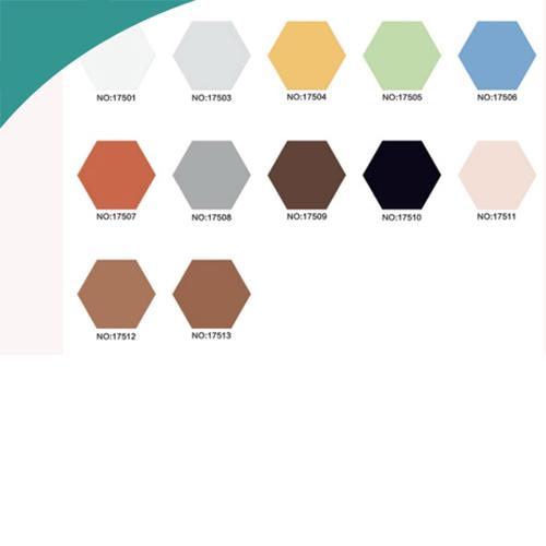 ceramic tile with multi color - white black grey digital colors hexagonal tiled kitchen