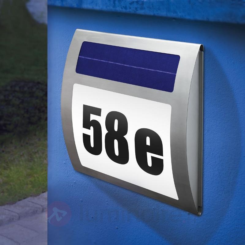 Numéro de maison lumineux solaire WAVE - Numéros de maison lumineux