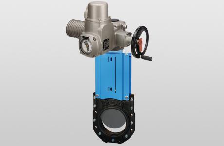 Knife-gate valve WGEB-EL. - bidirectional - electric actuator - GG-25
