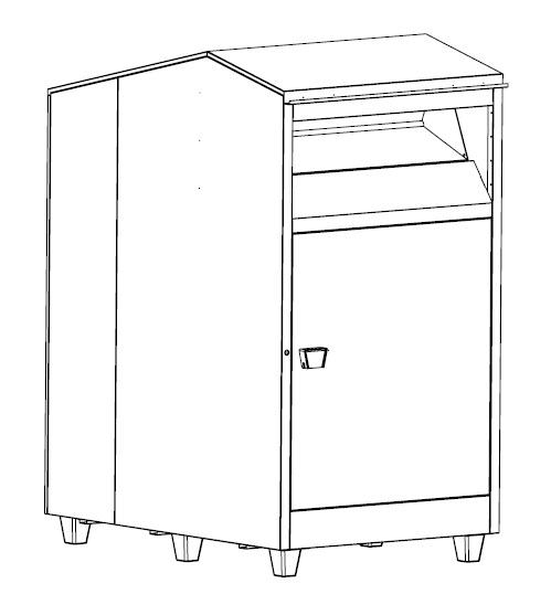 Conteneur à rouleau - « Des conteneurs conçu comme des meubles en kit »