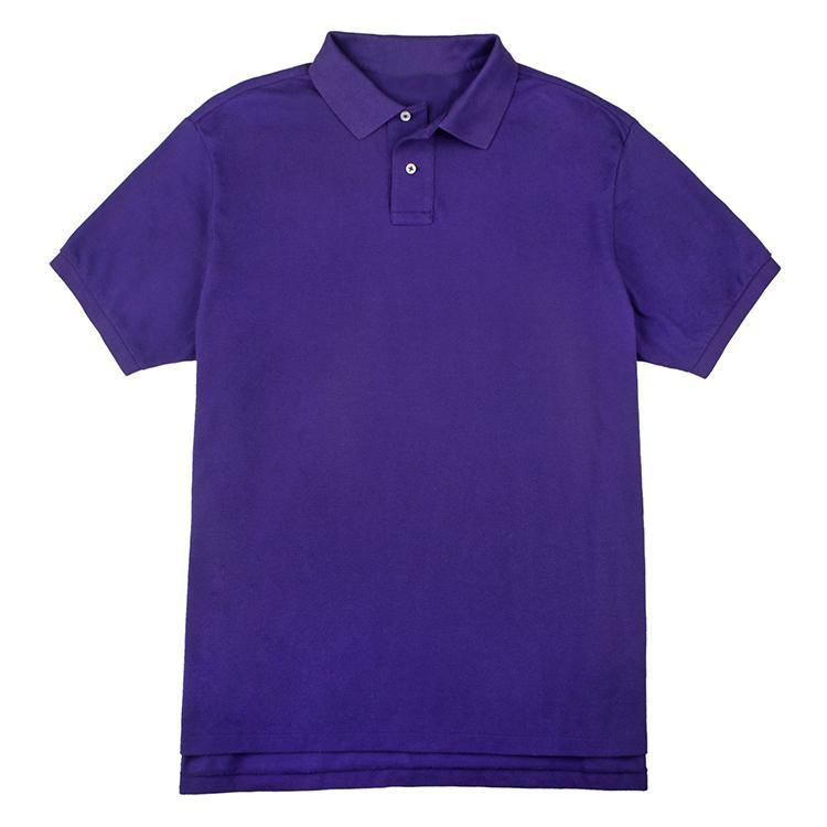 Men's basic turn-down collar T-shirt
