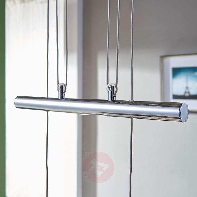 Height-adjustable LED linear pendant lamp Ticino - indoor-lighting