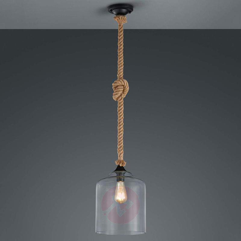 Glass hanging lamp Judith with a maritime design - indoor-lighting