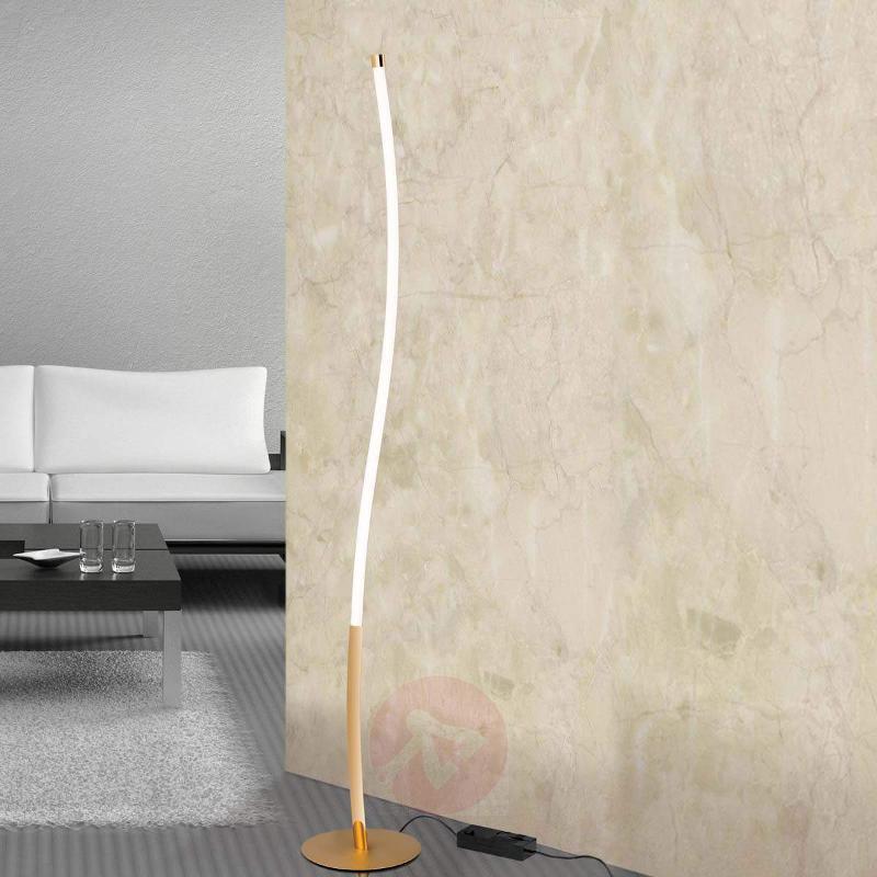 LED floor lamp Alen in gold - Floor Lamps
