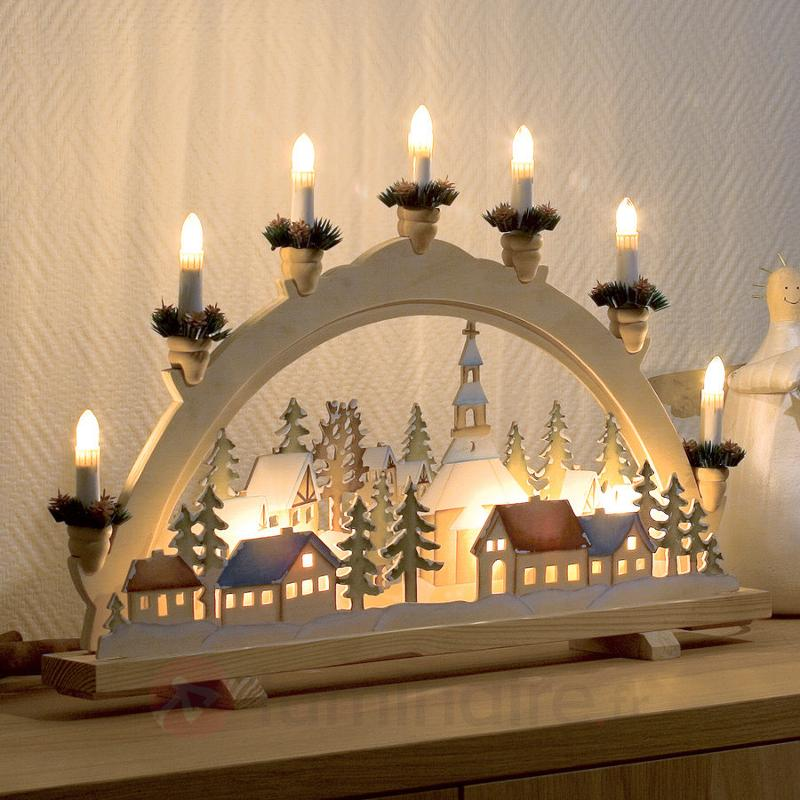 Arc lumineux de l'Avent Village de Noël - Arcs lumineux de Noël