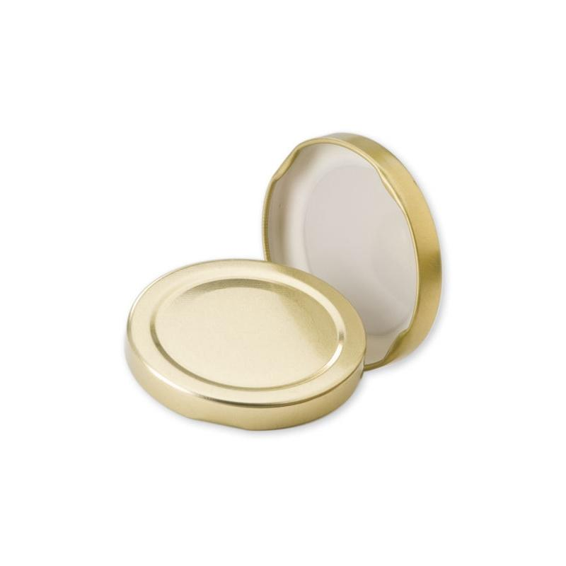 100 caps TO 110 mm Gold color for pasteurization - GOLD
