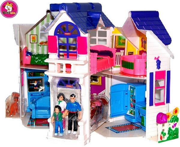 New hottest children pretend play big doll house - Pretend Toys