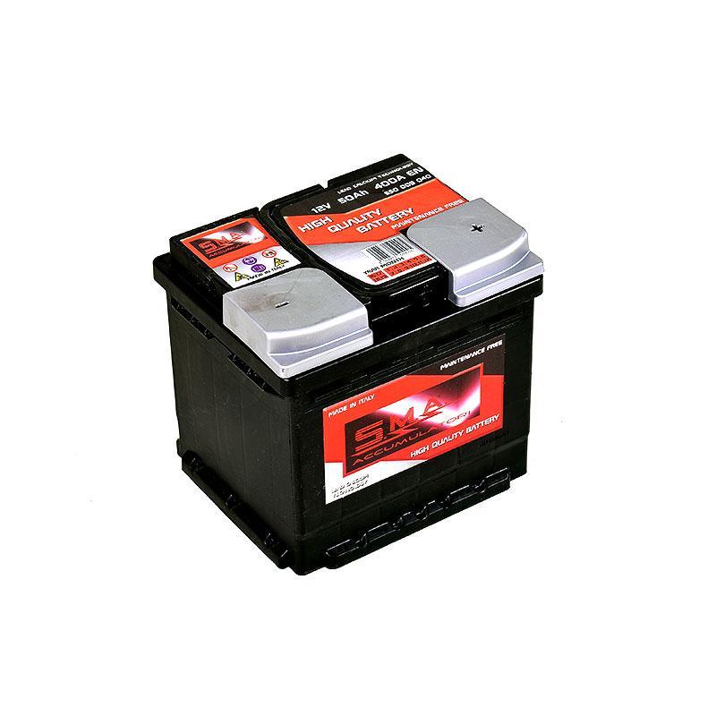 Batteria Avviamento Auto L1B, 50 ah - Serie DIN - Produzione batterie per auto alta qualità