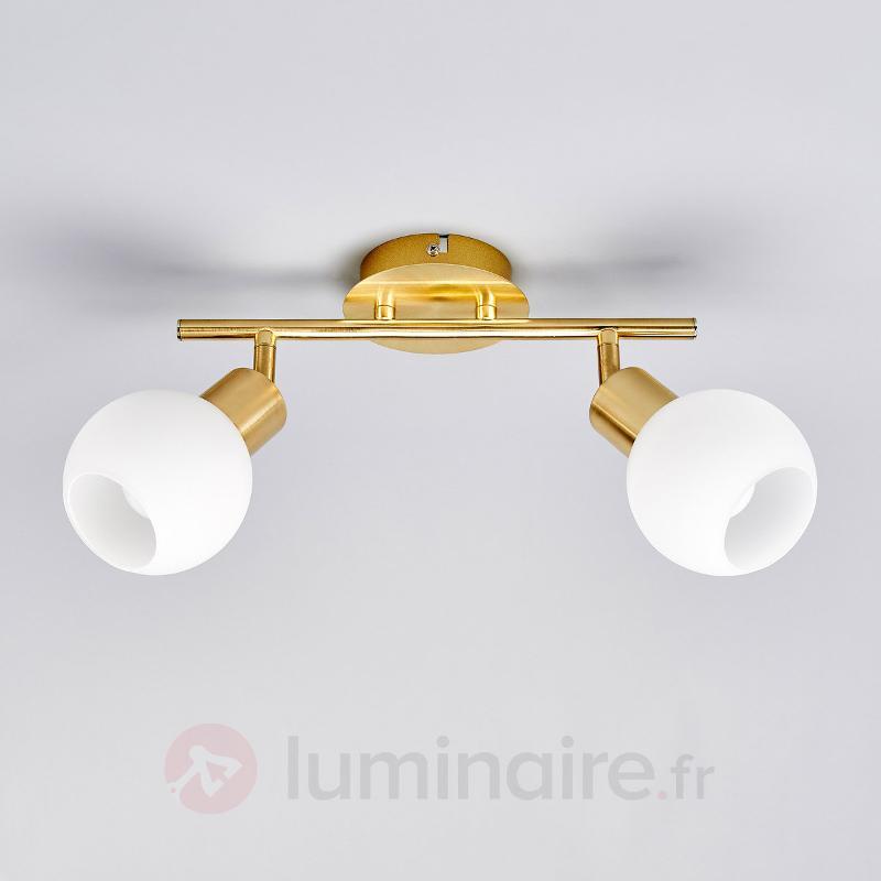 Plafonnier Elaina à LED E14, laiton - Plafonniers LED