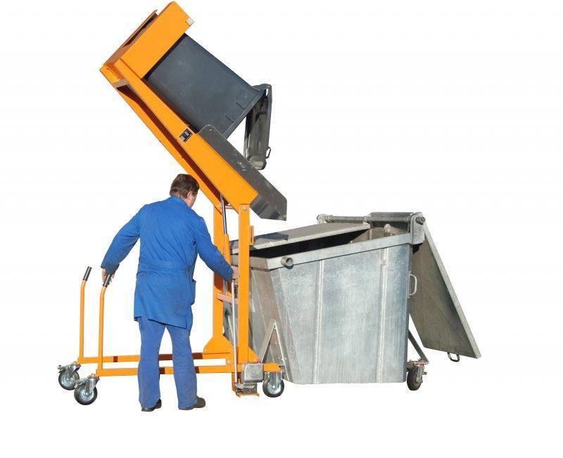 Basculeur mobile de poubelles type MKS - Déversement et nettoyage des poubelles de 120 et 240 litres