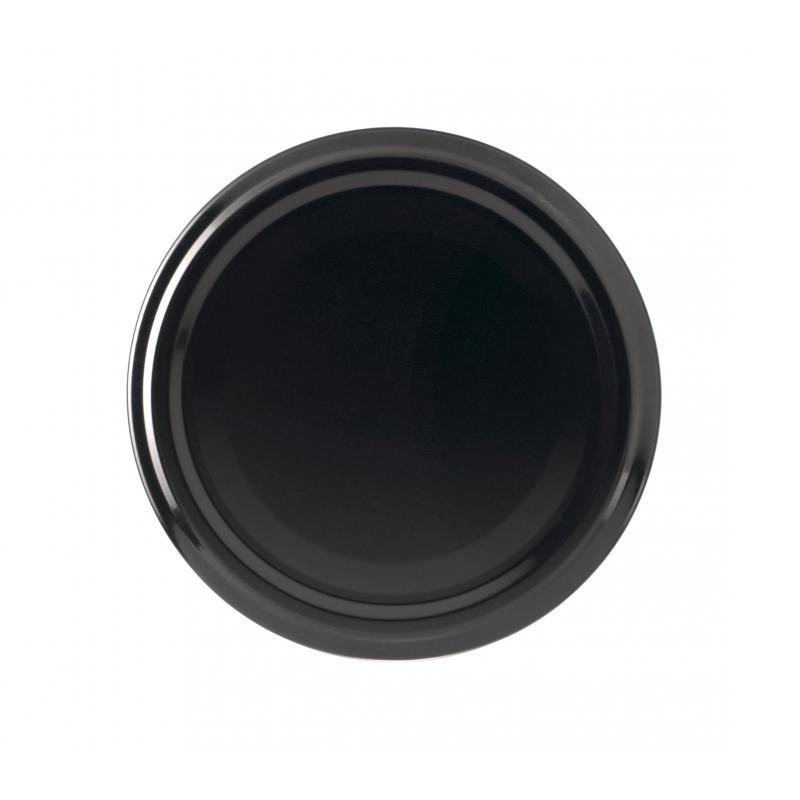 100 capsules TO 66 mm noires pour bocaux en verre - NOIR