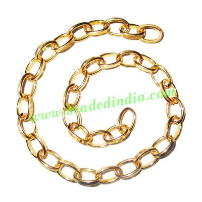 Gold Plated Metal Chain, size: 1.5x7mm, approx 19.3 meters i - Gold Plated Metal Chain, size: 1.5x7mm, approx 19.3 meters in a Kg.