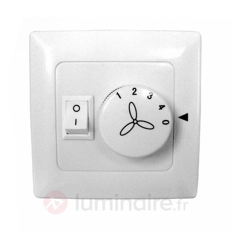 Interrupteur mural pour ventilateurs et lampes - Accessoires pour ventilateurs de plafond