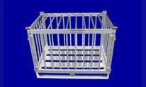 Gitterbox, auf Wunsch abschließbar - Hurtz Aluminiumgitterboxen