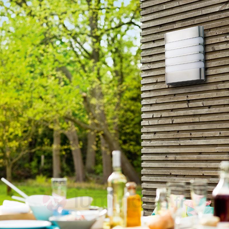Applique d'extérieur LED Raccoon inox - Appliques d'extérieur inox