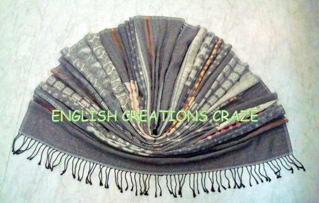 wool cotton printed scarves - wool cotton printed scarves
