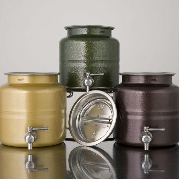 Olive Oil Drums In Different Colors - Liquids