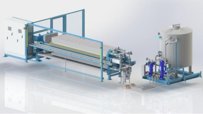 Filtre presse á membranes - Le filtre presse à membrane - un drainage optimal grâce à la techn. membranaire
