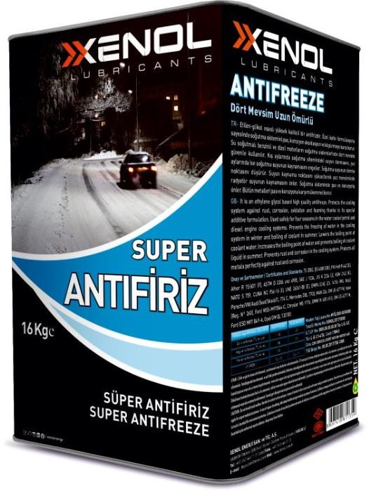 Antifreeze  - A durable and all-seasons cooling liquid.