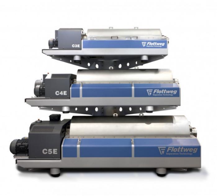 Série C da Flottweg - A centrífuga decanter para a área de lodo de clarificação e efluentes
