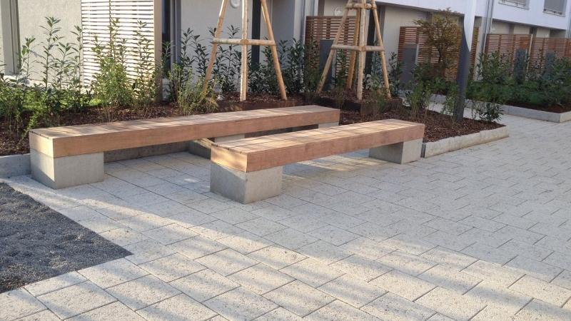 banc public en bois fixation invisible ambiance bois luxembourg. Black Bedroom Furniture Sets. Home Design Ideas