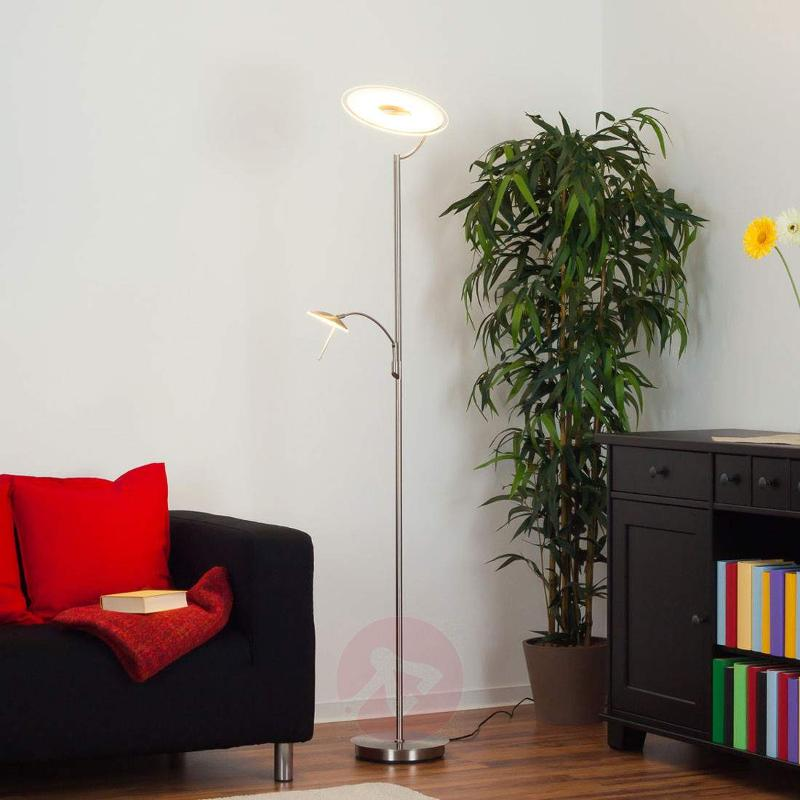 Dimmable LED floor lamp Juna with reading light - Floor Lamps