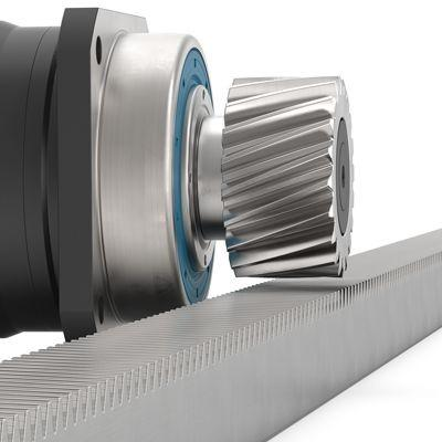 Planetengetriebe mit montiertem Ritzel PSN - Präzisionsgetriebe mit Abtriebswelle - Schrägverzahnt -  IP65 - NEUGART