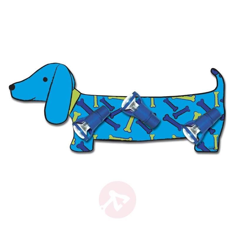 Blue Bello wall light in sausage dog shape - Wall Lights