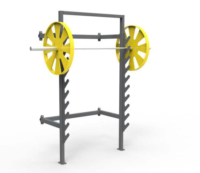 Rack for barbell - Outdoor sports equipment