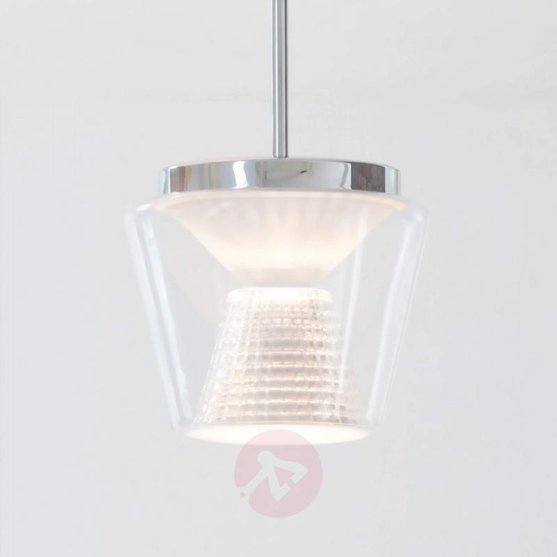 With crystal glass - LED pendant light Annex - design-hotel-lighting