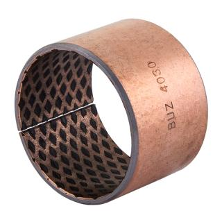 Wrapped composite sliding bearing steel / bronze  - BIV-LUB®- with filled lubrication pockets
