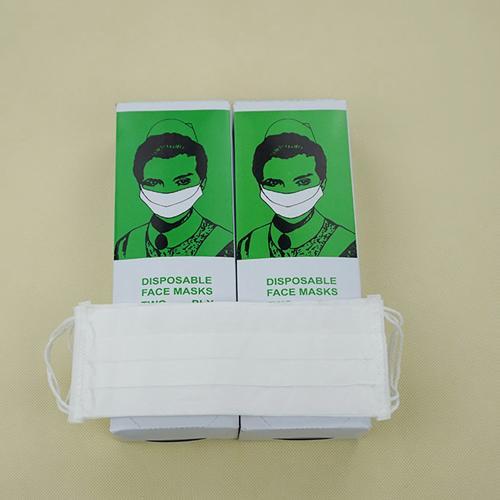 Máscara facial de papel de una capa
