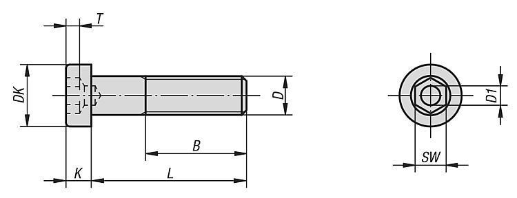 Vis CHC tête courte DIN 6912 - Éléments de liaison