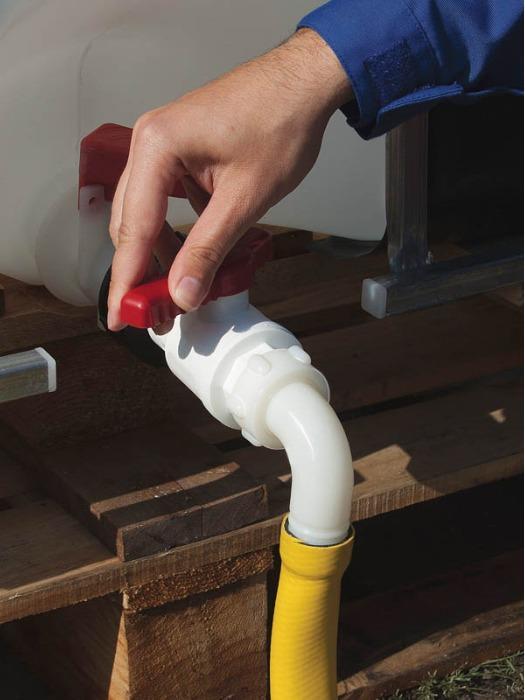 Robinet IBC avec coude d'écoulement - Robinet d'arrêt, robinet de vidange