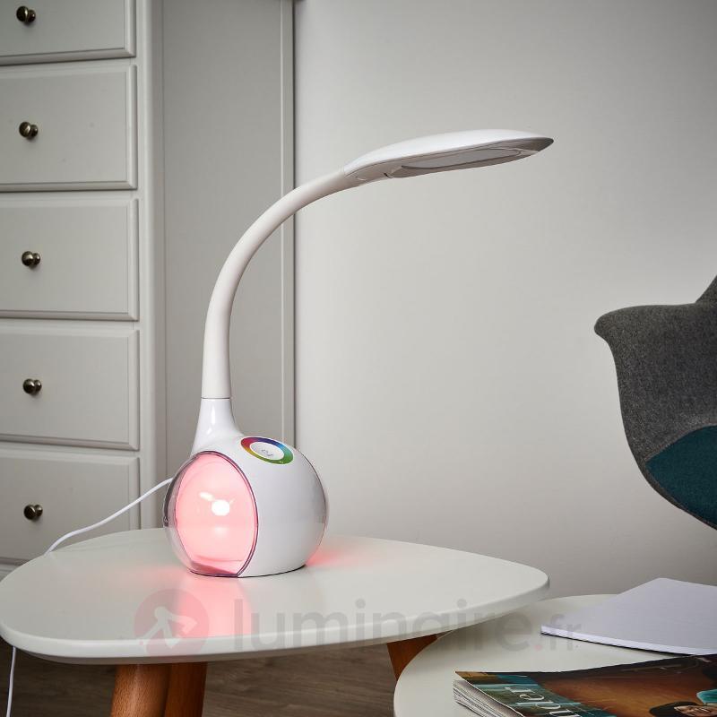 Lampe de bureau moderne Keiko, éclairage RVB - Lampes de bureau LED
