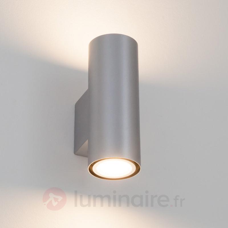Applique LED Kabir argentée à 2 lampes - Appliques LED