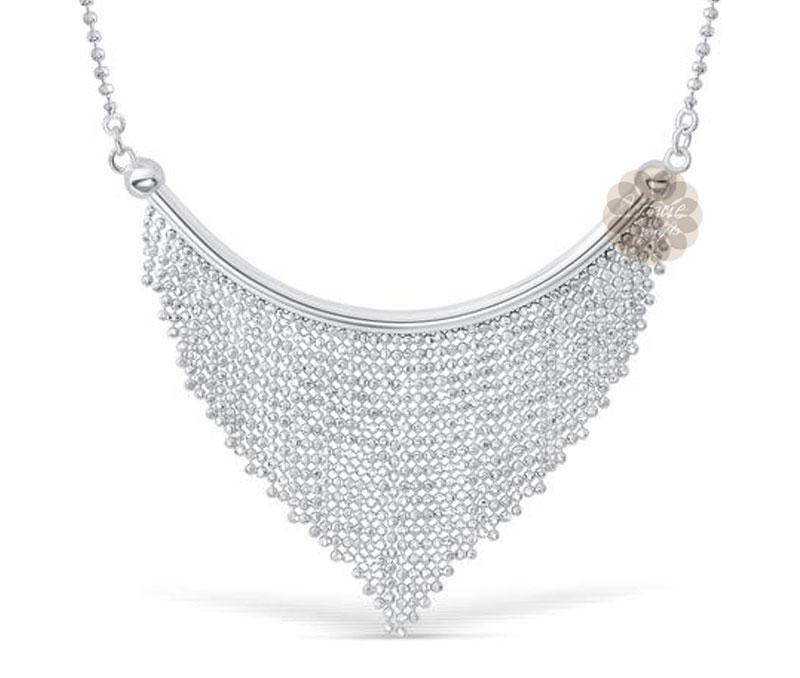 Party-wear Silver Necklace