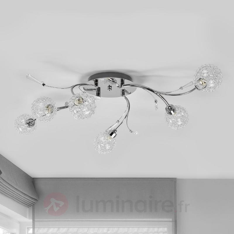 Plafonnier Marie à 6 lampes - Plafonniers chromés/nickel/inox
