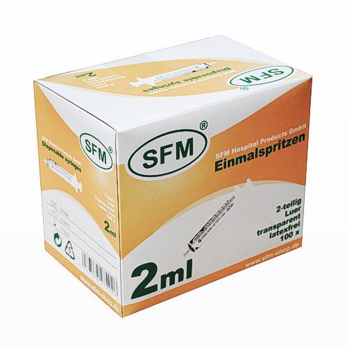 SFM Einmalspritzen, 2ml, 2-teilig, latexfrei, (100St.) - null