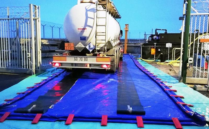Bac de rétention pliable autoportant 27000 litres - BRSO 27000AUTO Bacs de rétention souples