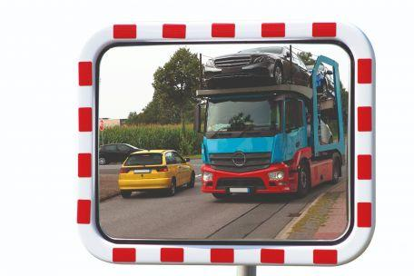 Miroir Routier Rectangulaire Garantie 5 Ans, Acrylique - Sécurité Routière
