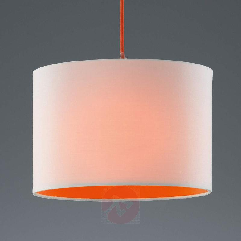 Colourful Naila hanging light, white-orange - Pendant Lighting