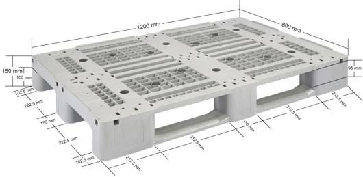 Plastic Pallet- Industrial - IPL1208