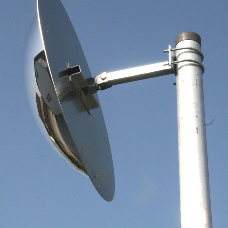 Poteau de fixation en acier galvanisé ø76 mm hauteur 4 m - Mobilier urbain