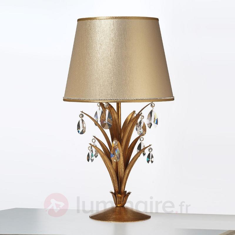 Sublime lampe à poser Mayleen avec cristaux - Lampes à poser classiques, antiques