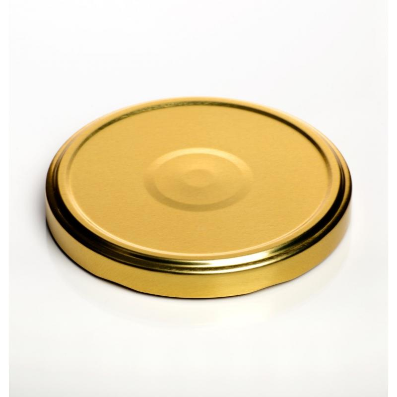 100 caps TO 66 mm Gold color for sterilization with flip - GOLD