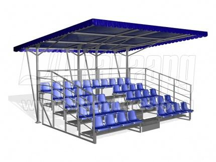 Canopy / roof for spectator seats - Tent / plycarbonate / corrugated metal roof