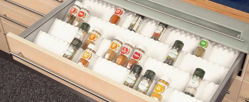 SALSA spice insert Reorganize your spice life! - Salsa spice jar insert white 698 grained