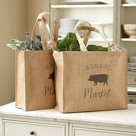 Natural Jute Shopping Bag - Burlap Bag, Custom Jute Shopping Bag, Printed Jute Bag