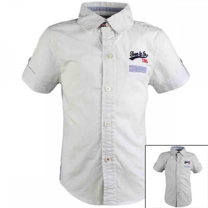 8x Chemises manches courtes Tom Jo du 2 au 5 ans